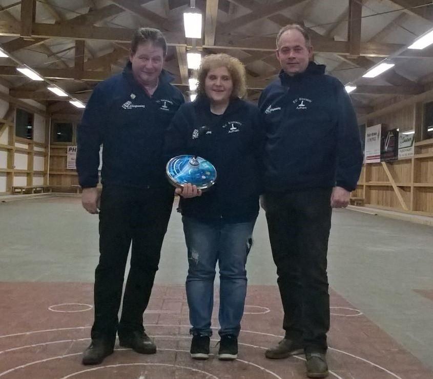 Clubmeisterschaft Winter 2016/17 Mannschaft v.l. Ludwig Hogger, Lisa Hergott und Stefan Heigenhauser