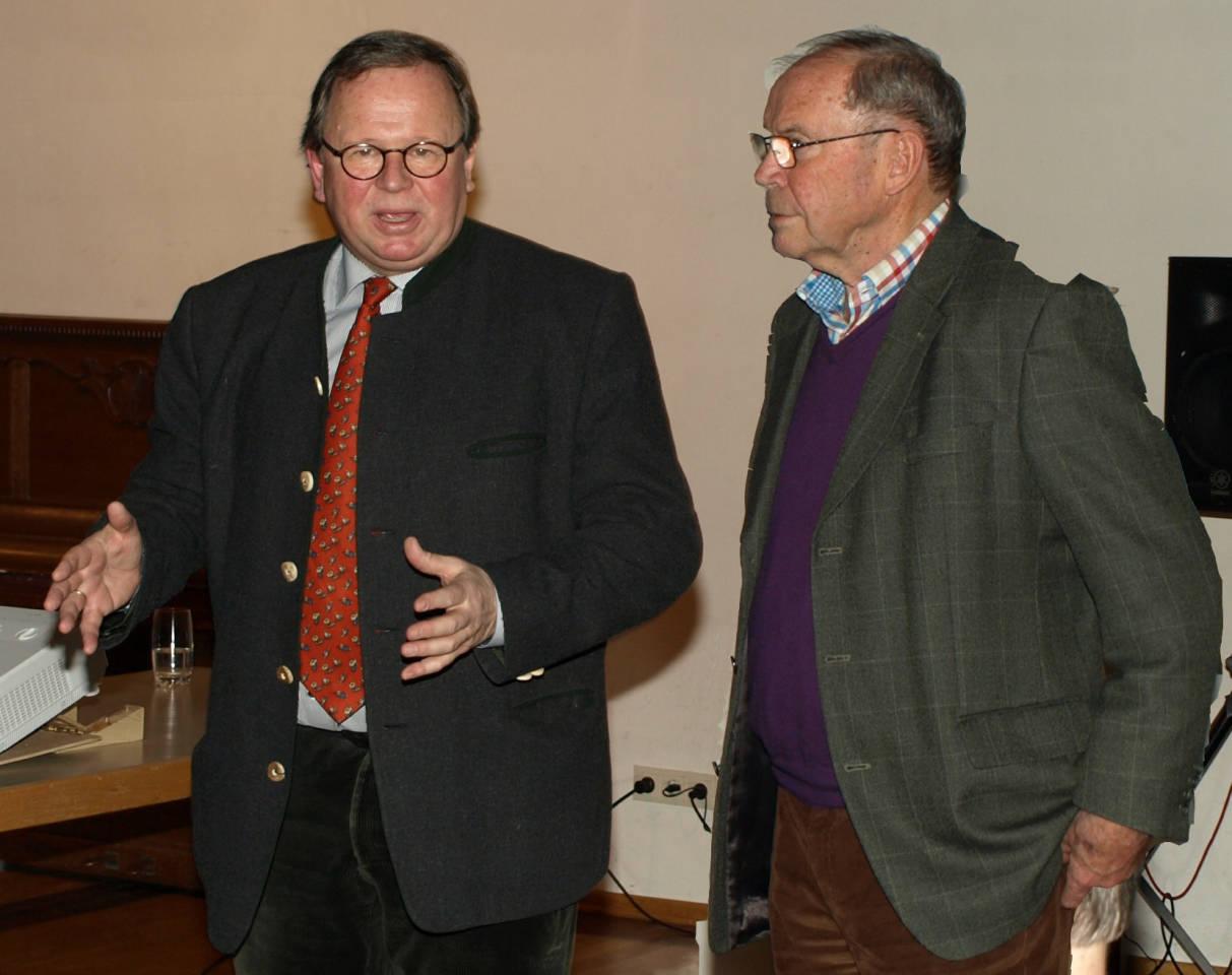 Peter Rink, li., Reinhold Schuhbeck re.