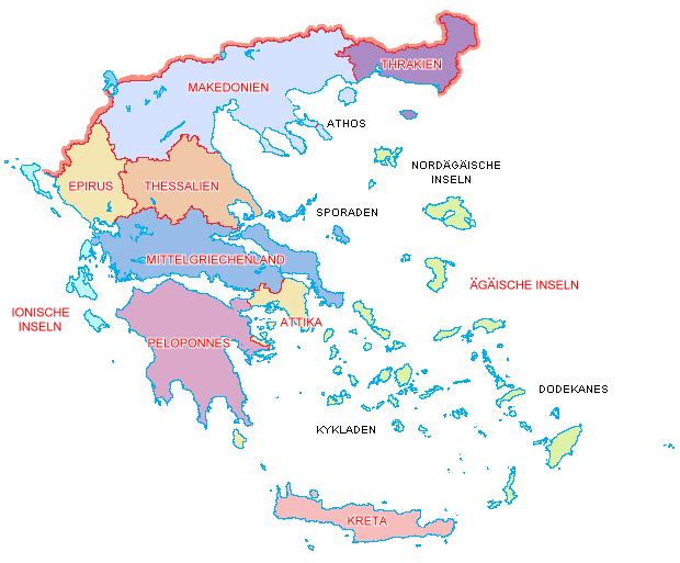 Regionale Gliederung Griechenlands