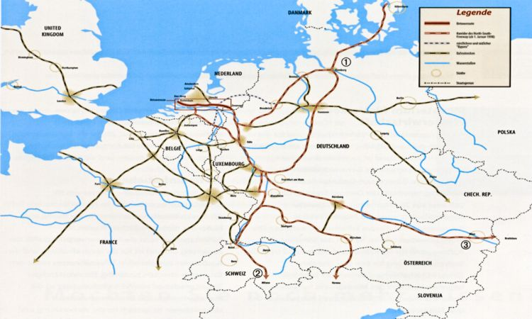 eisenbahnknotenpunkte in europa