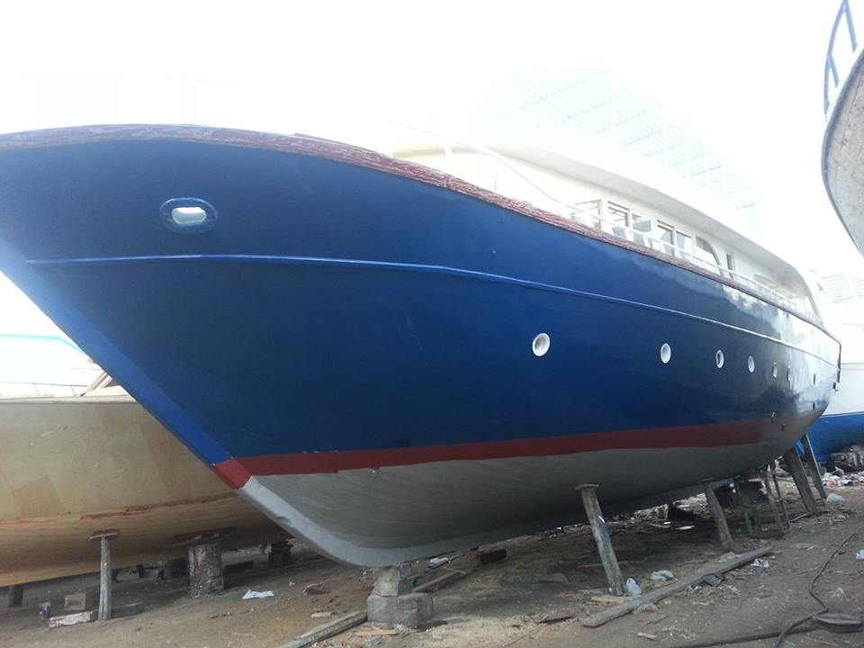 Auffrischung der  Bootsfarben
