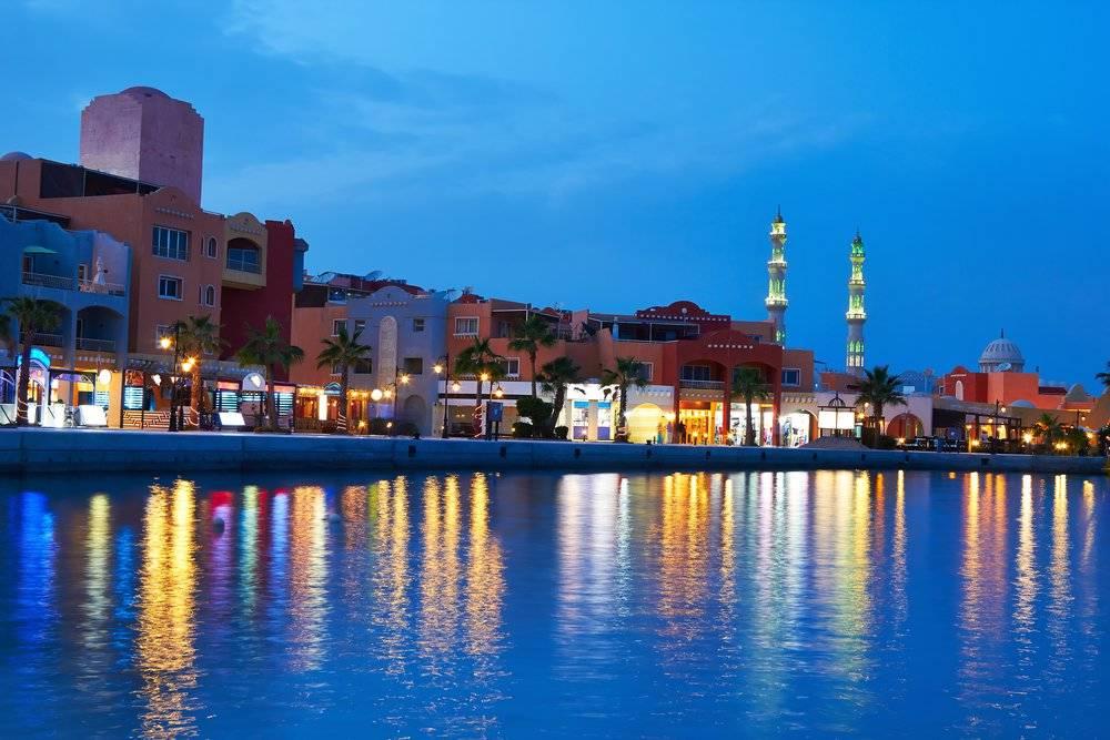 Marina nach Sonnenuntergang Bild von Ausflüge Hurghada