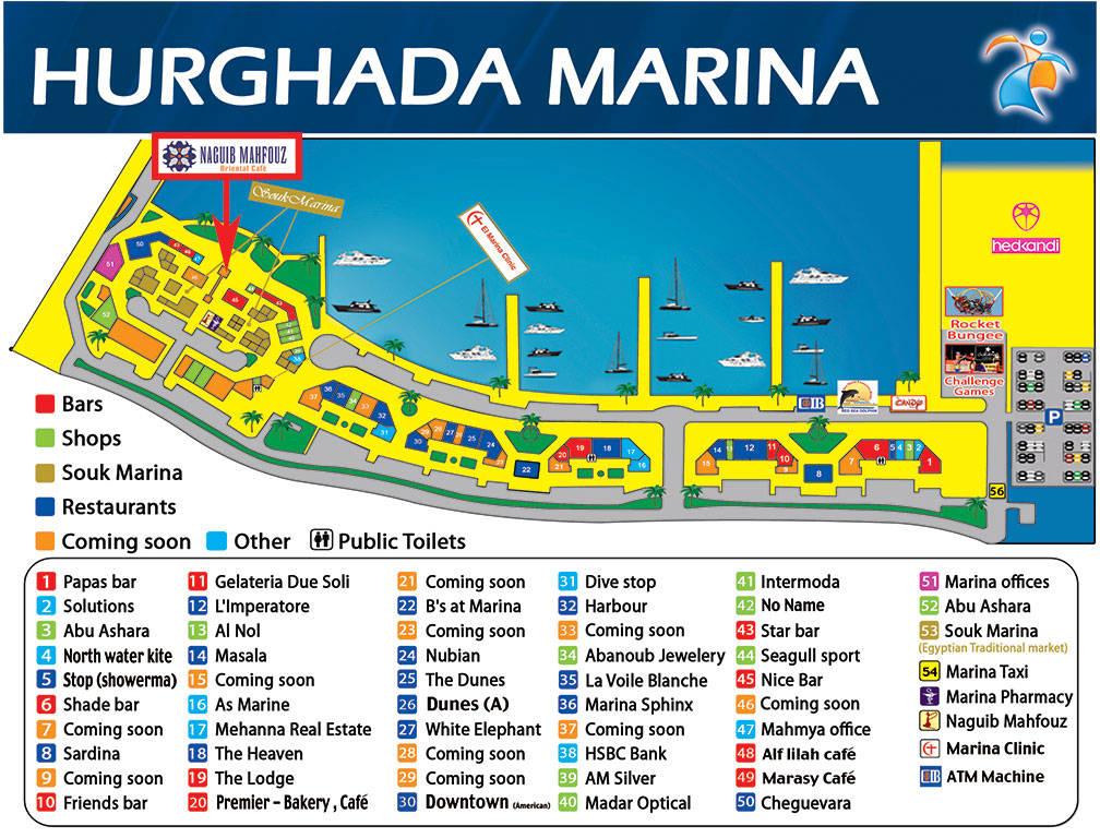 Skizze von Marina - Ausflüge Hurghada