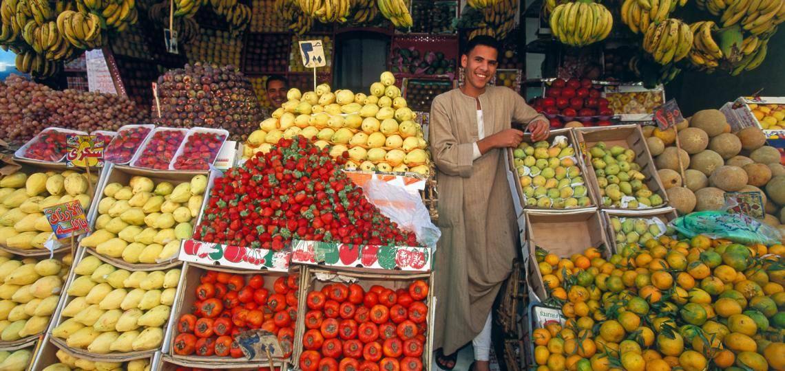 Obstmarkt in Hurghada bei City Tour mit Ausflüge Hurghada