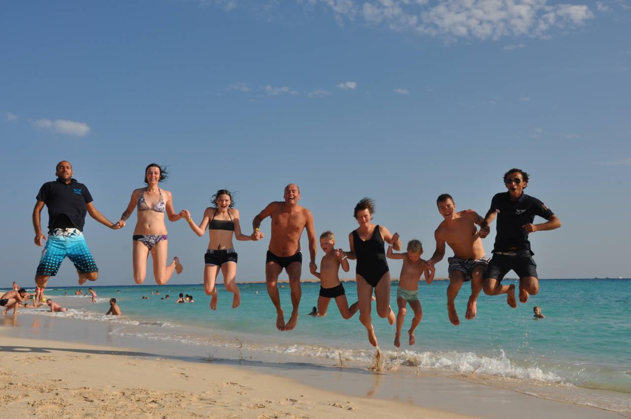 Gruppenfoto auf der Giftun Insel