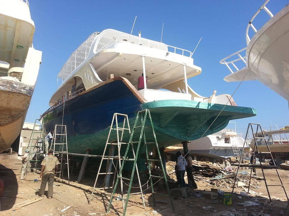 Sanierung eines Taucherbootes