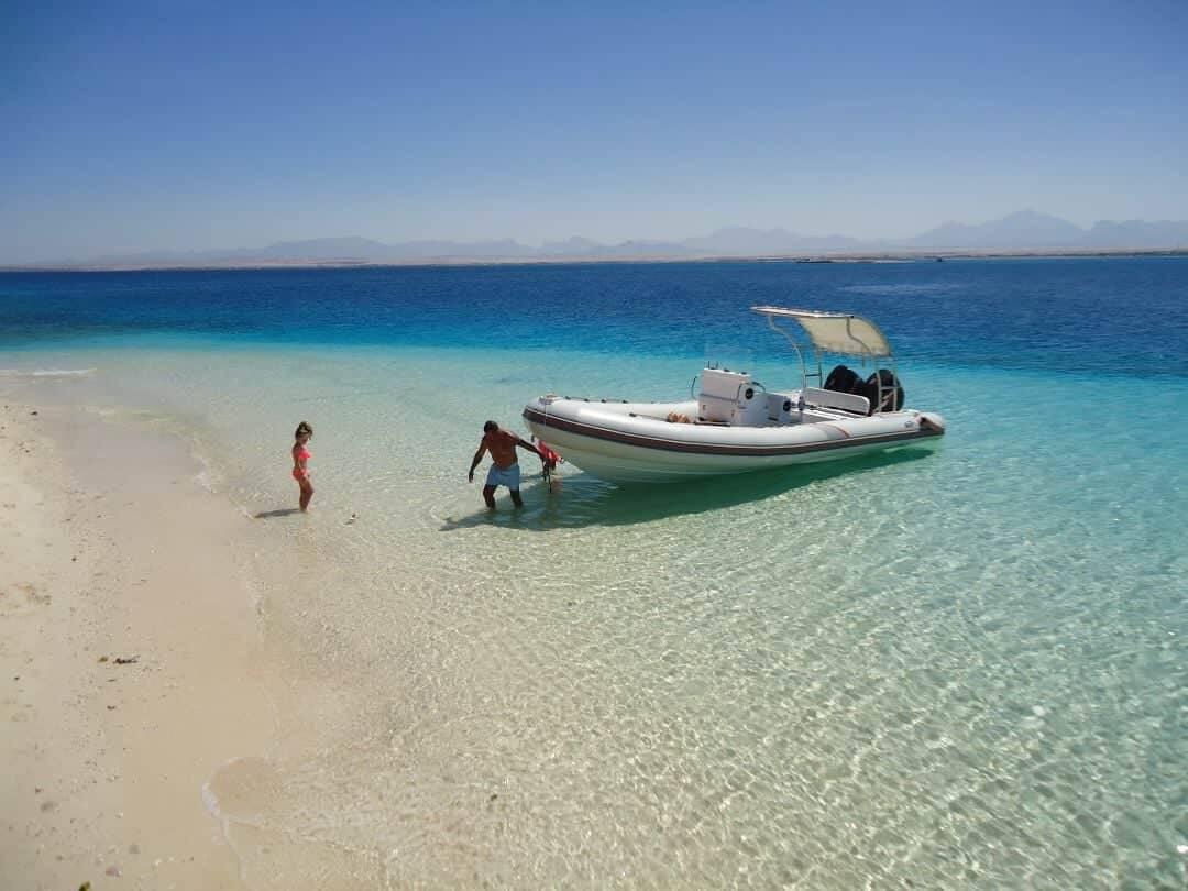 Auslug in Hurghada mit Speedboot