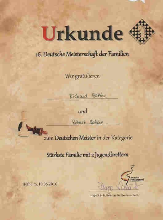Deutsche Familienmeisterschaft 2016 / Bethke-Bröthers