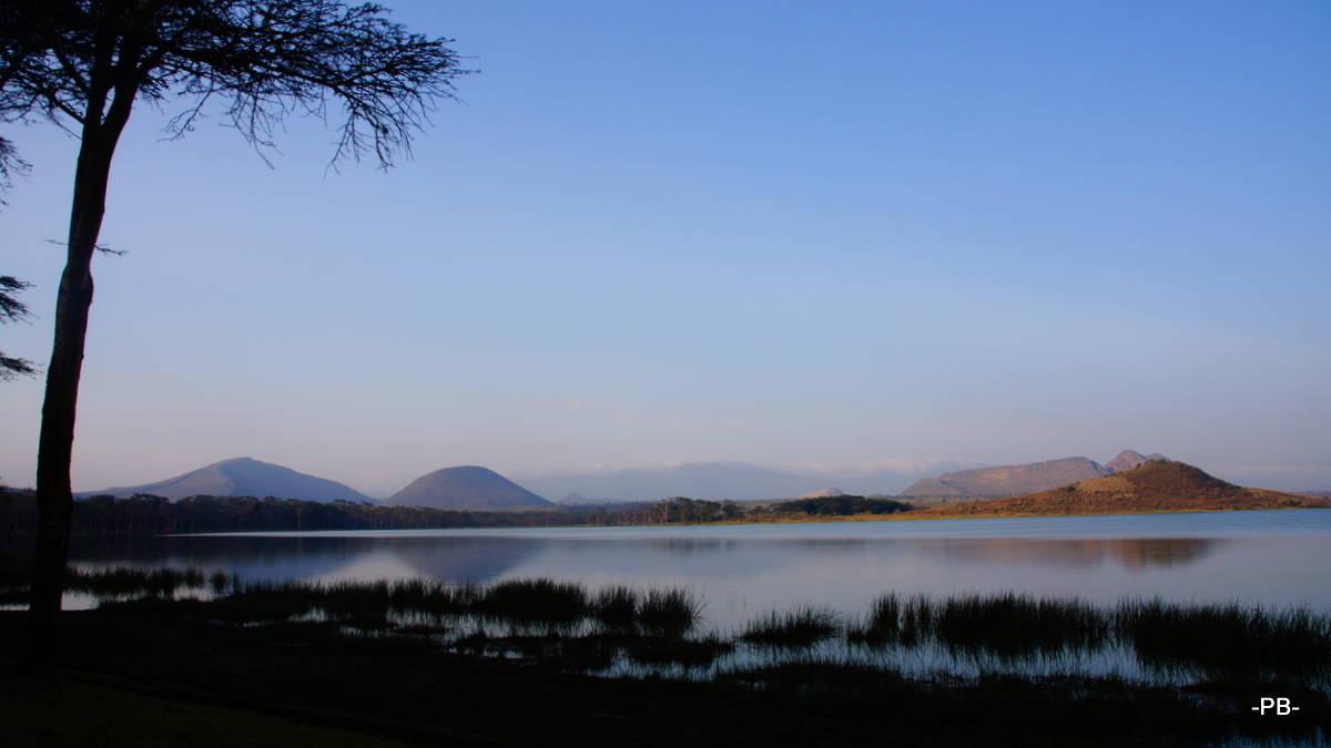 Spektakulärer Blick auf den Lake Elementaita