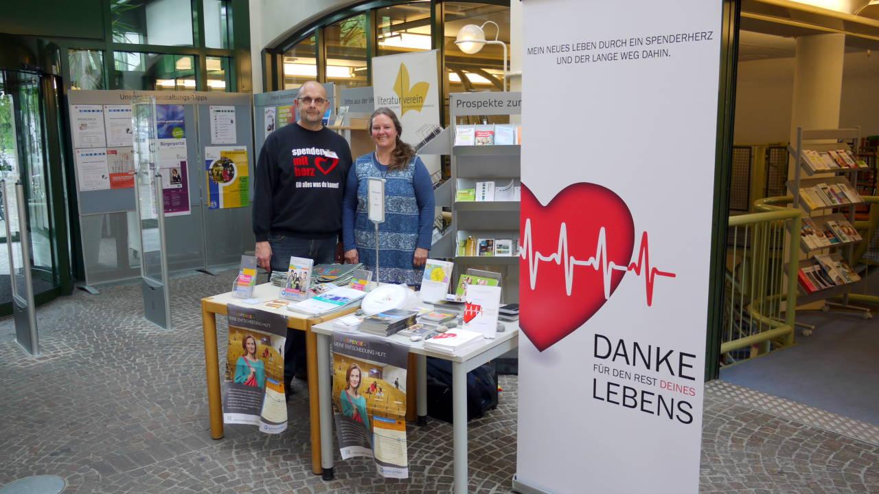 Organspendewoche der Bigs Gütersloh mit Frau von Borstel