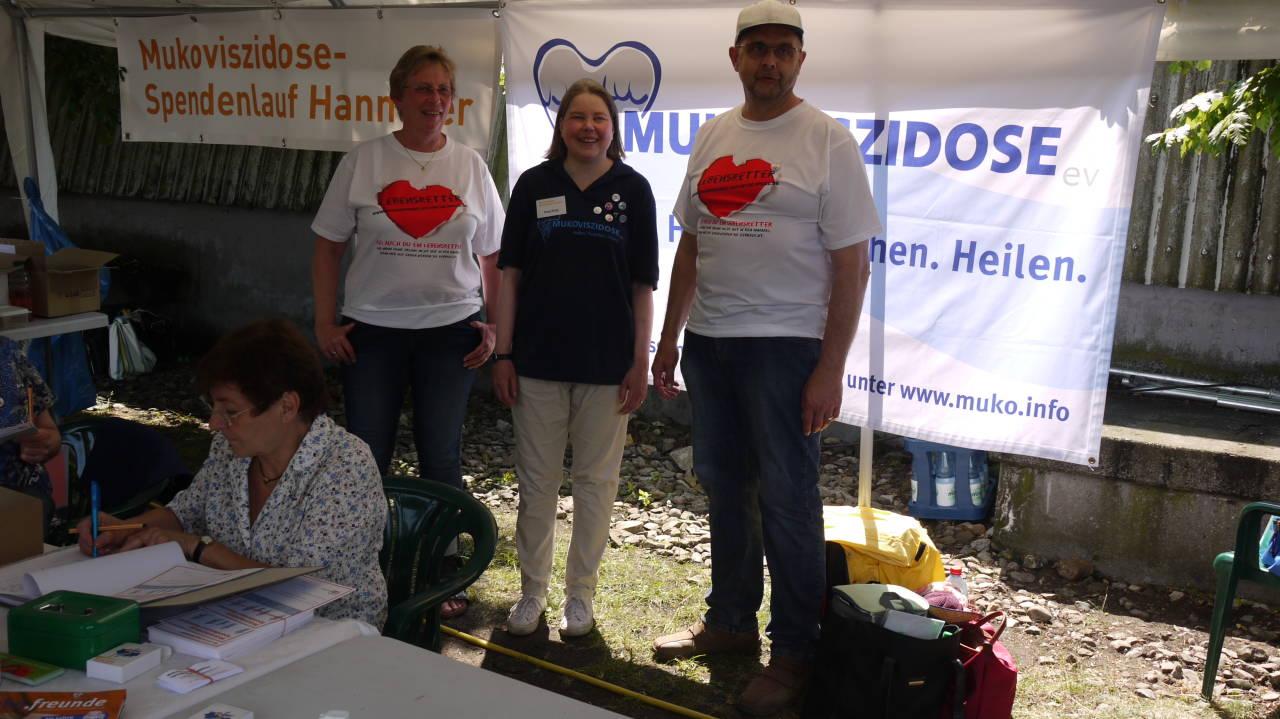 Mukoviszidose-Spendenlauf Hannover -hier mit meiner Frau und Insa Krey