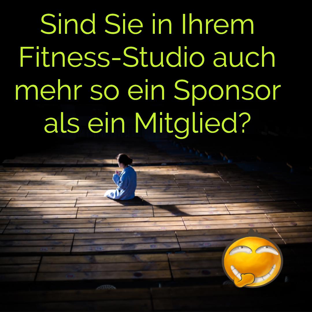 Fitnessstudios machen nur fit wenn man hingeht.
