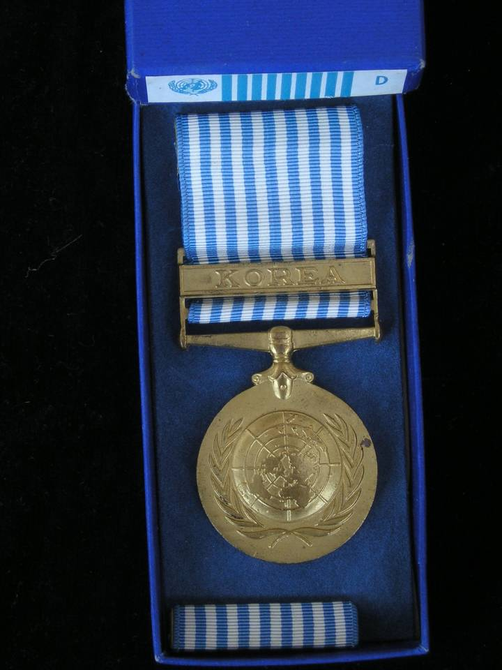 United Nations medal Korea Dutch version