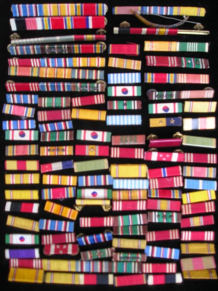 US Ribbon Bar Korea Phillipines Europe stars