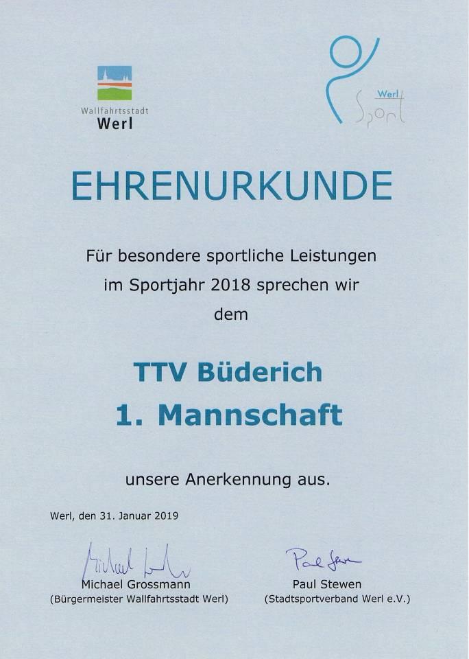 TTV Werl-Büderich_Tischtennis