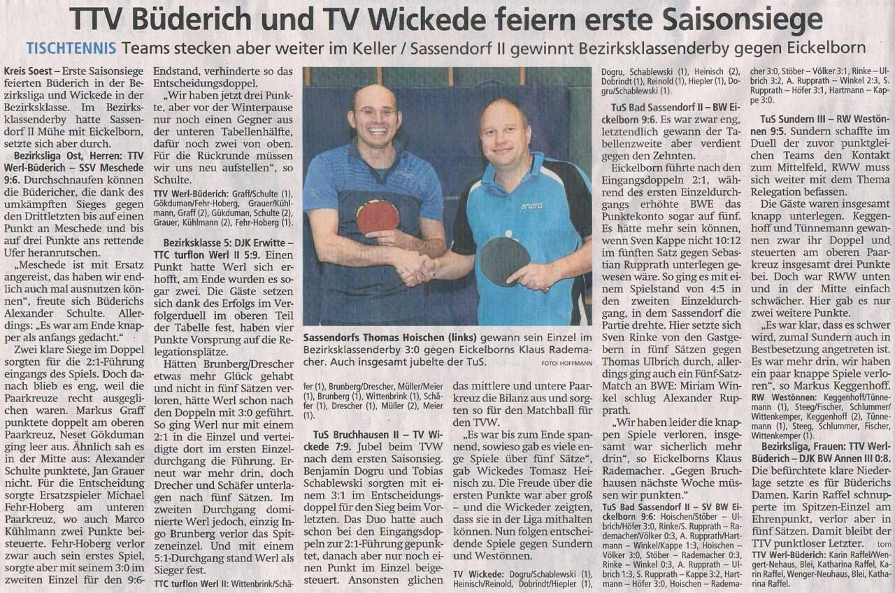 TTV 1989 Werl-Büderich_Tischtennis