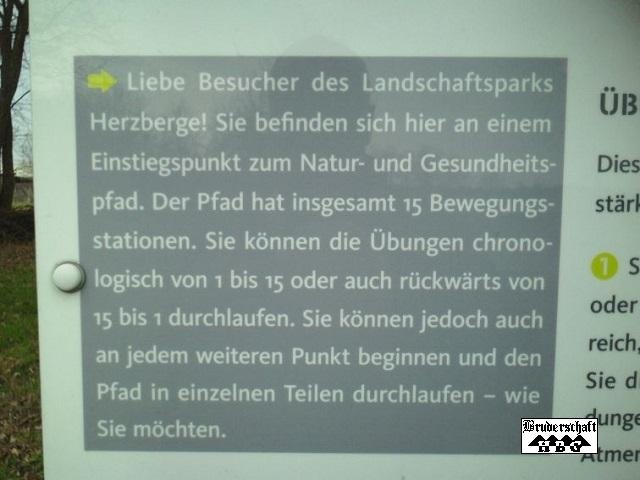 Informationstafel; Foto der Bruderschaft Herzberg