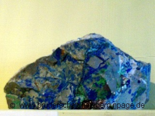 Azurit-Kupfer - Foto von der Bruderschaft Herzberg