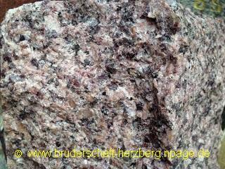 Granit - rosa - Foto der Bruderschaft Herzberg
