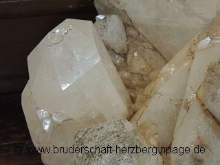 Quarz-Bergkristall - Foto von der Bruderschaft Herzberg