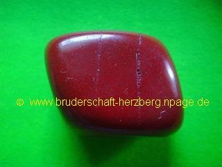 Roter Jaspis - Trommelstein - Foto der Bruderschaft Herzberg