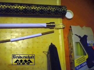 Klebewerkzeug für den Ritualstab; Bruderschaft Herzberg