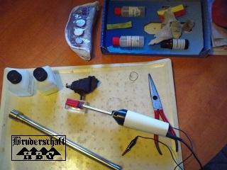 Galvanik-Werkzeug für den Ritualstab; Bruderschaft Herzberg