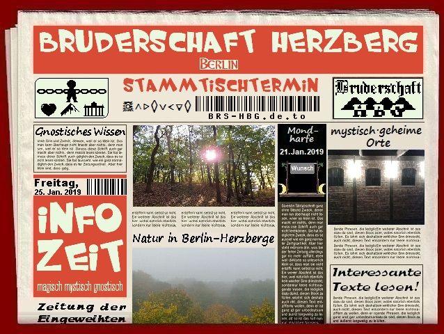 Stammtischzeitung der Berliner Bruderschaft Herzberg, Januar 2019