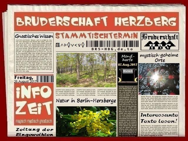 Stamtischzeitung der Bruderschaft Herzberg, August 2017