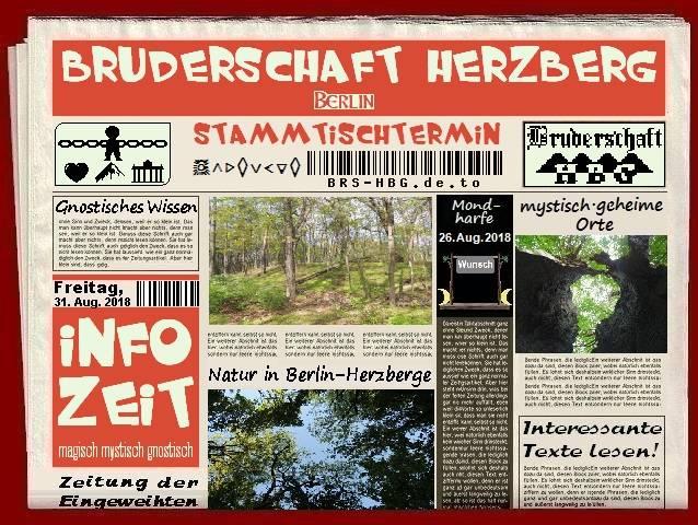 Stammtischzeitung der Berliner Bruderschaft Herzberg, August 2018