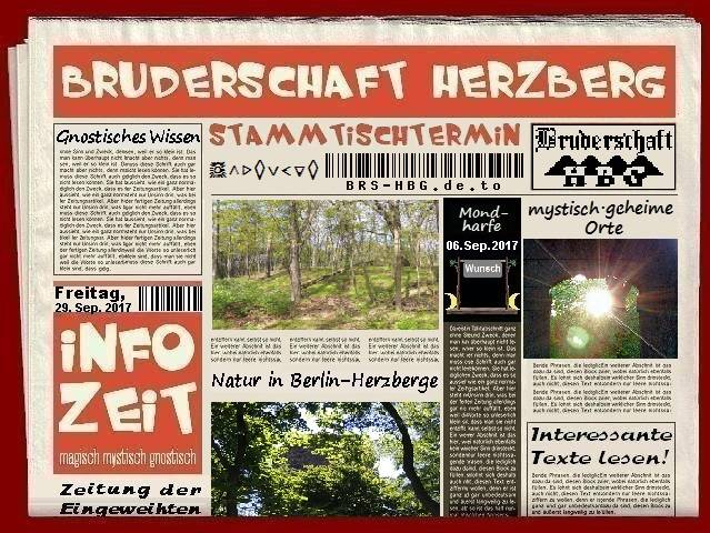 Stamtischzeitung der Bruderschaft Herzberg, September 2017