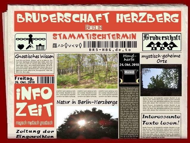Stammtischzeitung der Berliner Bruderschaft Herzberg, Oktober 2018