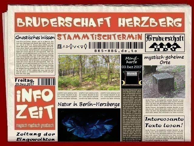 Stamtischzeitung der Bruderschaft Herzberg, Dezember 2017