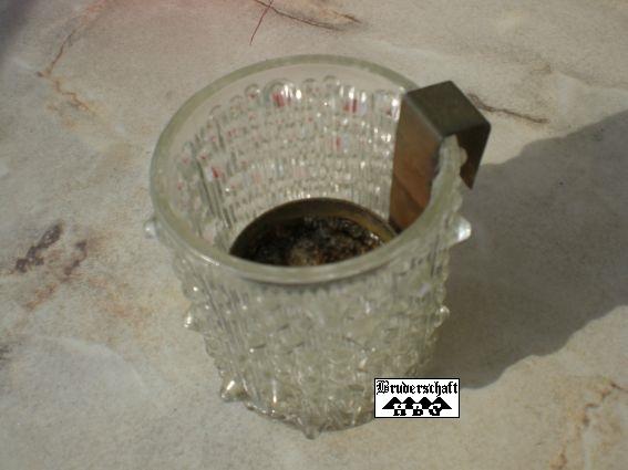 Öllampe mit Glas der Bruderschaft Lichtenberg