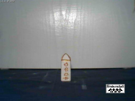 Ritual-Obelisk, Foto von der Bruderschaft Herzberg