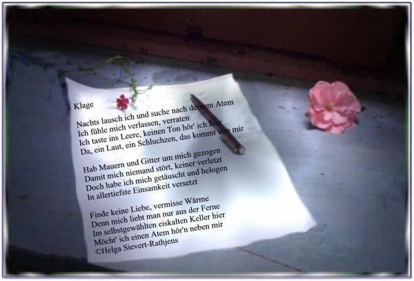 trauriges gedicht