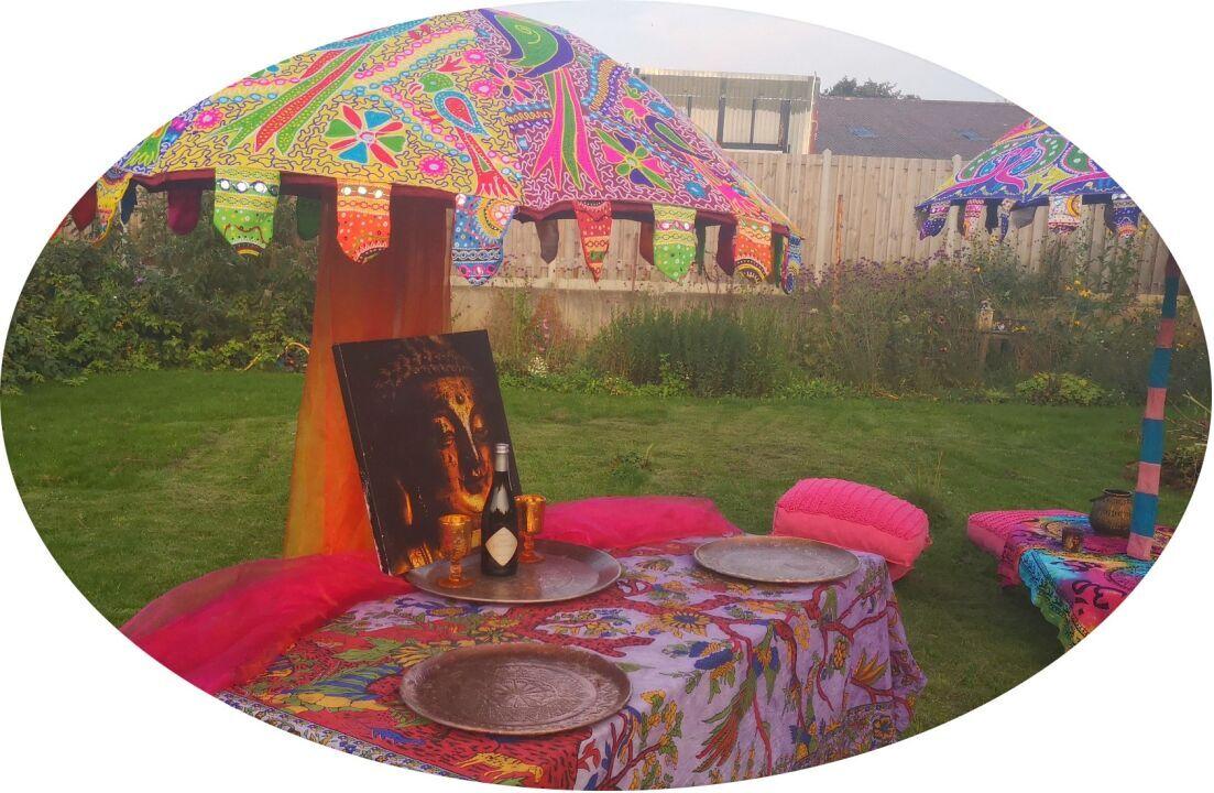 paraol huren, bali parasol, ibiza parasol, verhuur parasols